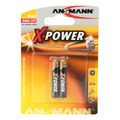 ANSMANN 1510-0005 Alkaline Batterie AAAA, X-Power, 2er-Pack