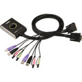 ATEN CS682 KVM-Switch 2-fach, DVI-D, USB, Audio, integrierte Kabel