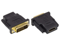 Adapter HDMI 19pol Buchse an DVI-D 24+1 Stecker, vergoldet, Good Connections