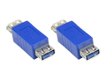 Adapter USB 3.0 Typ A Buchse an Typ A Buchse, blau, Good Connections