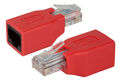 Gigabit Crossover Adapter RJ45 Stecker/Buchse