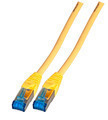 INFRALAN Patchkabel RJ45, S/FTP, Cat.6A, TPE superflex, 0.5m, gelb