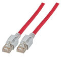INFRALAN Patchkabel RJ45, S/FTP, Cat.6A, VC LED, 0,5m, rot