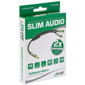 InLine Basic Slim Audio Y-Kabel 3,5mm Klinke ST an 2x BU, 0,15m