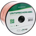 InLine Lautsprecherkabel, 2x 1,5mm², CCA, transparent, 100m