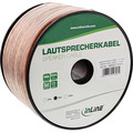 InLine Lautsprecherkabel, 2x 4mm², CCA, transparent, 50m