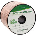 InLine Lautsprecherkabel, 2x 4mm², CU, transparent, 50m