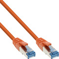 InLine Patchkabel, S/FTP (PiMf), Cat.6A, 500MHz, halogenfrei, Kupfer, orange, 15m
