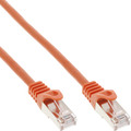 InLine Patchkabel, SF/UTP, Cat.5e, orange, 0,25m