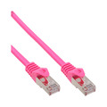 InLine Patchkabel, SF/UTP, Cat.5e, pink, 0,25m