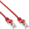 InLine Patchkabel, SF/UTP, Cat.5e, rot, 0,25m