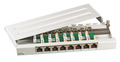 Mini-Patchpanel 8xRJ45 Cat.6A, RAL7035 grau (0,5HE)