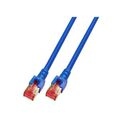 Patchkabel RJ45, S/FTP, Cat.6, LSZH, 0.15m, blau