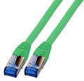 Patchkabel RJ45, S/FTP, Cat.6A, Cat.7 Rohkabel, 1,5m, grün