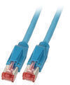Patchkabel RJ45, S/FTP, Cat.6A, TM21, Dätwyler 7702, 0,5m, blau