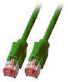 Patchkabel RJ45, S/FTP, Cat.6A, TM21, Dätwyler 7702, 3m, grün