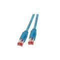 Patchkabel RJ45, S/FTP, Cat.6A, TM21, UC900, 10m, blau