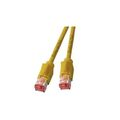 Patchkabel RJ45, S/FTP, Cat.6A, TM21, UC900, 1m, gelb