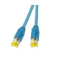 Patchkabel RJ45, S/FTP, Cat.6A, TM31, Dätwyler 7702, 0,5m, blau