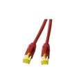 Patchkabel RJ45, S/FTP, Cat.6A, TM31, Dätwyler 7702, 0,5m, rot