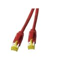 Patchkabel RJ45, S/FTP, Cat.6A, TM31, UC900, 0,18m, rot