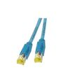 Patchkabel RJ45, S/FTP, Cat.6A, TM31, UC900, 0,5m, blau