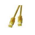 Patchkabel RJ45, S/FTP, Cat.6A, TM31, UC900, 0,5m, gelb