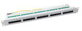 Patchpanel 25xRJ45 8/4 1HE ISDN, RAL7035, Cat. 3