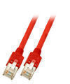 RJ45 Crossover Patchkabel SF/UTP, Cat.5e, TM11, UC300, 0,5m, rot