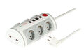 Socket Strip 6 x Schuko with Surge Prot., 2 x USB, 2 x RJ45, 2 x RJ11, Switch