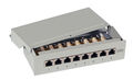 Mini-Patchpanel 8xRJ45 Cat.6, RAL7035 grau