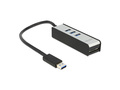 USB 3.0 Hub, 3 Port, extern + 1 Slot SD Card Reader, Delock