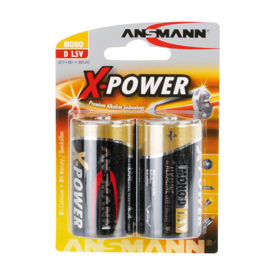 Ansmann Alkaline X-Power Batterie, Mono (D), 2er Pack (5015633)
