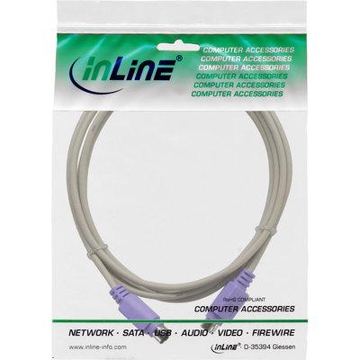 InLine PS/2 Kabel, Stecker / Stecker, PC 99, Farbe Violett,