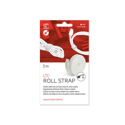 Label-the-cable Klettbandrolle LTC Roll Strap, 3m, weiß