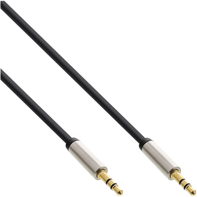 InLine Slim Audio Kabel Klinke 3,5mm ST/ST, Stereo, 1m