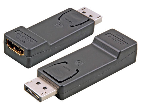 DisplayPort Adapter, DisplayPort auf HDMI?-A, St.-Bu., schwarz