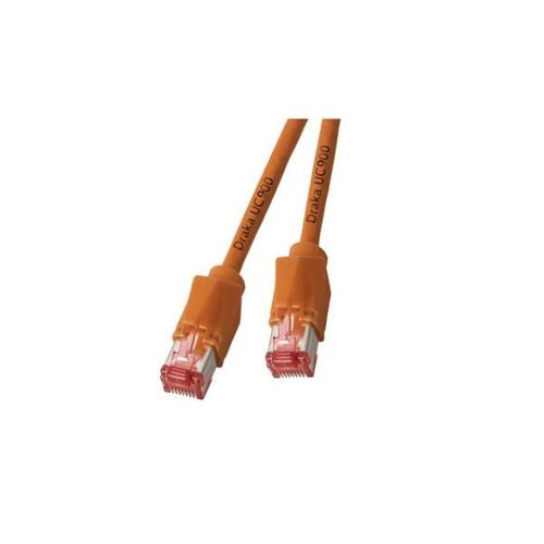 Patchkabel RJ45, S/FTP, Cat.6A, TM21, Dätwyler 7702, 1,5m, orange