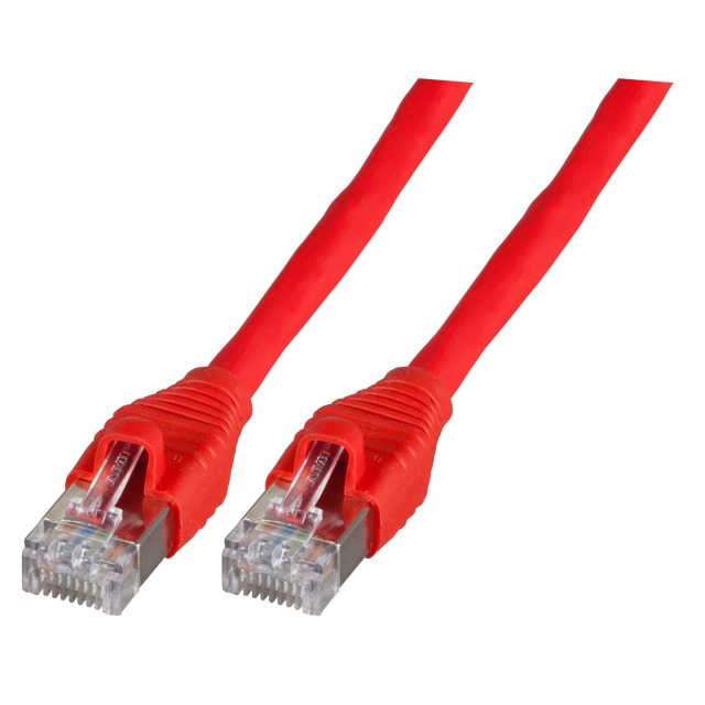 Patchkabel RJ45, S/FTP, Cat.6A, AMP EMT, UC900, 7,5m, rot
