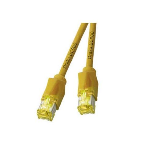 Patchkabel RJ45, S/FTP, Cat.6A, TM31, UC900, 0,3m, gelb