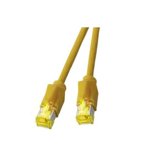 Patchkabel RJ45, S/FTP, Cat.6A, TM31, Dätwyler 7702, 0,5m, gelb
