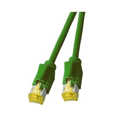 Patchkabel RJ45, S/FTP, Cat.6A, TM31, Dätwyler 7702, 0,5m, grün
