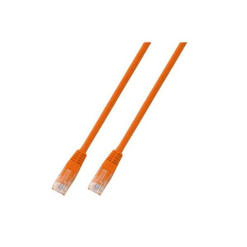 Patchkabel RJ45, U/UTP, Cat.5e, PVC, CCA, 0.5m, orange
