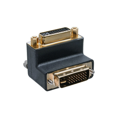 InLine DVI-I Adapter, 90° gewinkelt, digital+analog 24+5 Stecker / Buchse
