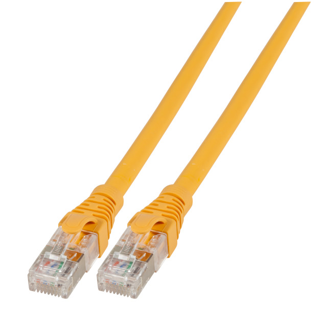 Patchkabel RJ45, U/FTP, Cat.6A, AWG26/7, LSZH, 10m, gelb