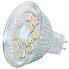 Power SMD-LED, 3W, 12V, 180 lm, 3000K, (warmweiß), dimmbar, A+, 120&#176 Abstrahlwinkel