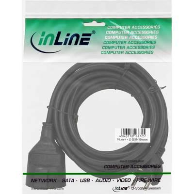 Buchse 2m InLine® Strom-Verlängerung Schutzkontakt Stecker weiß