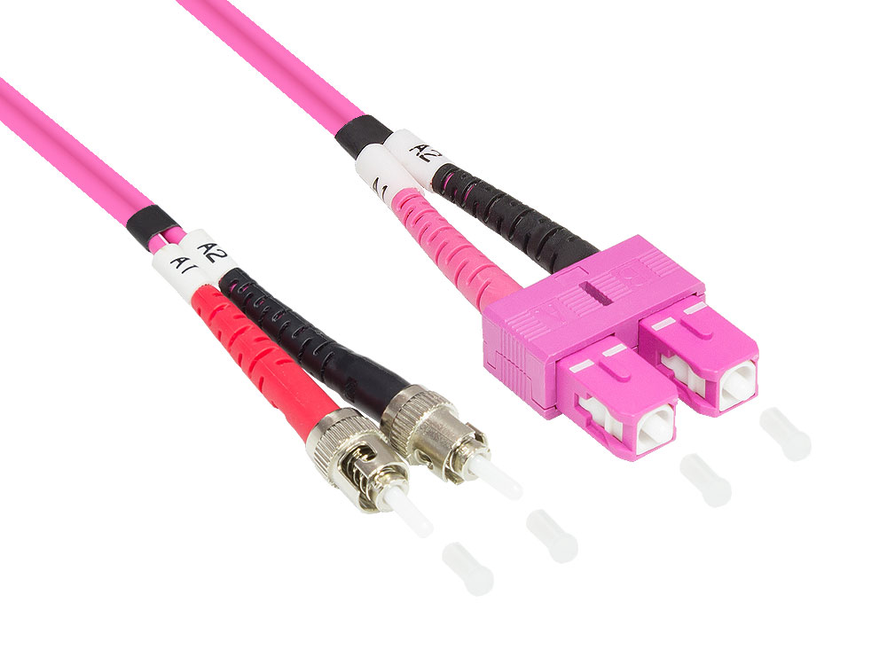 Patchkabel LWL Duplex OM4 (Multimode, 50/125) SC/ST, 15m, Good Connections ,LW-815TC4 - Produktbild 1