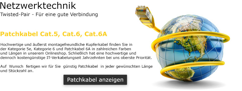 Patchkabel Shop Cat.5e / Cat.6A