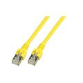 Patchkabel RJ45, SF/UTP, Cat.5e, PVC, CCA, 0.5m, gelb